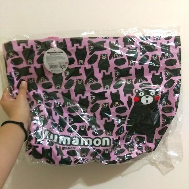 [全新]滿版KUMAMON熊本熊側背包#運費我來出