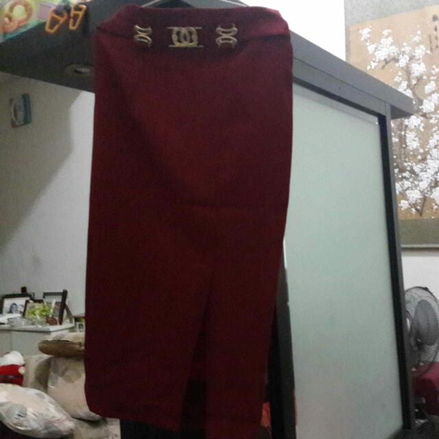 Maroon Long Skirt