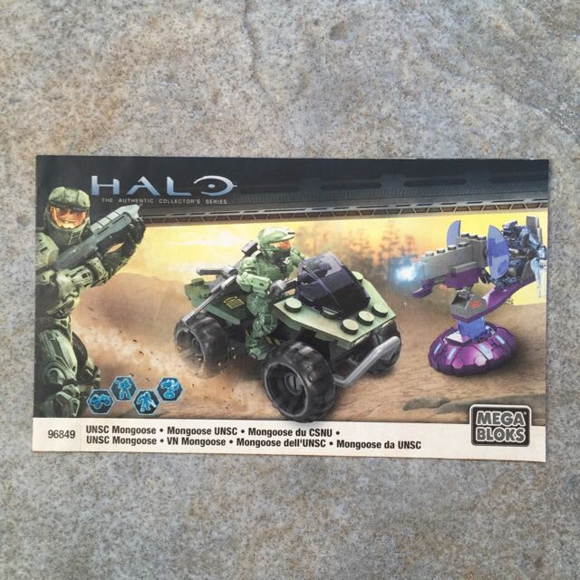 Mega Bloks Halo 96849 Unsc Mongoose Instructions Manual Only Toys