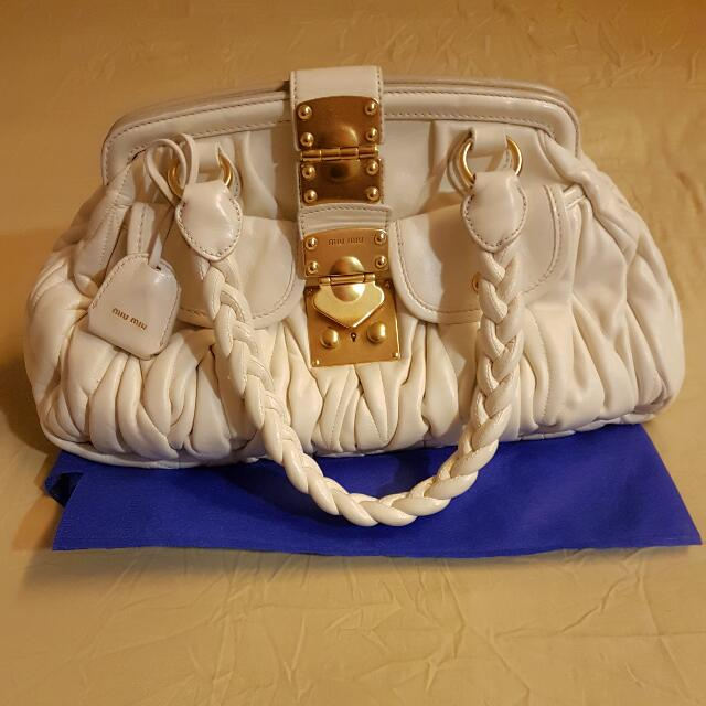 Authentic Miu Miu Lambskin Bag 3ed4b6bf39a48
