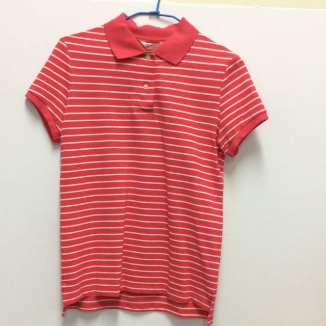 NET桃紅polo衫