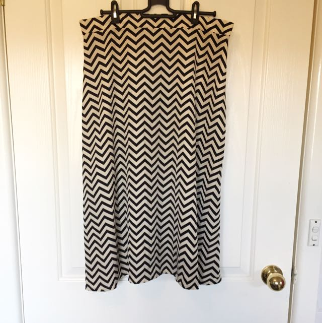 Nife Chevron Beige Skirt