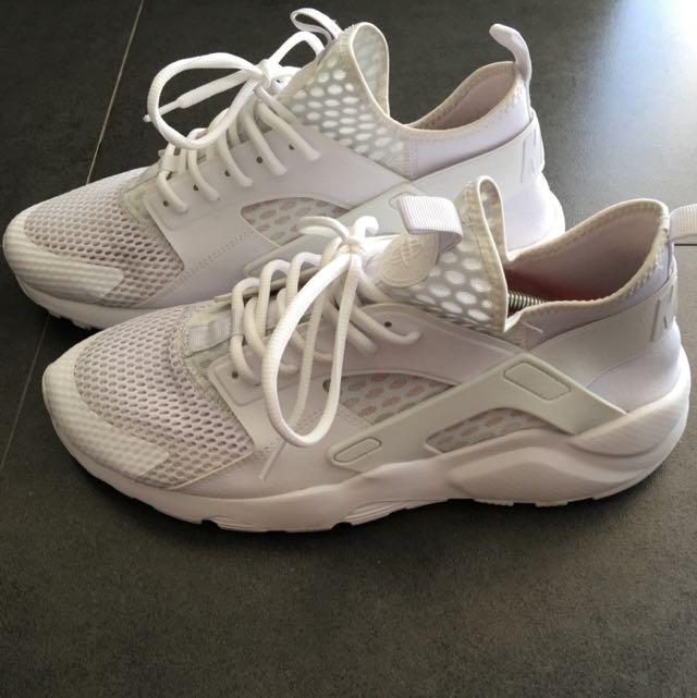 e86a1602467a9 Nike Huarache Ultra Breathe Triple White US12