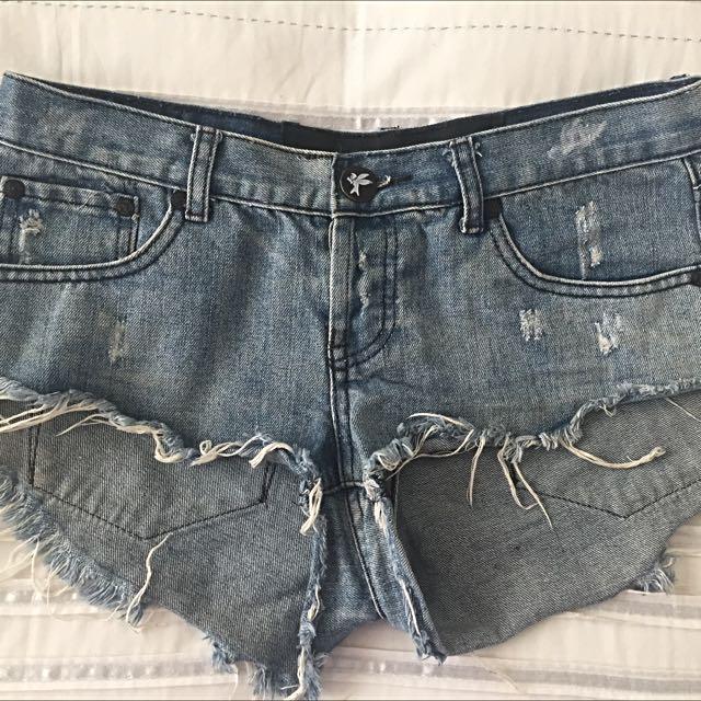 One Teaspoon Denim Cutoff Shorts