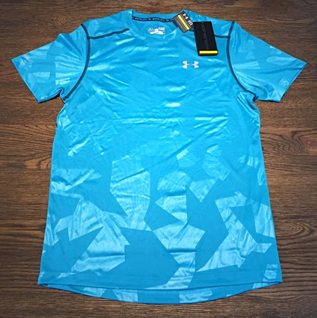 CLEARANCE @ $20! Under Armour ColdBlack running shirt Cyan S Fitted