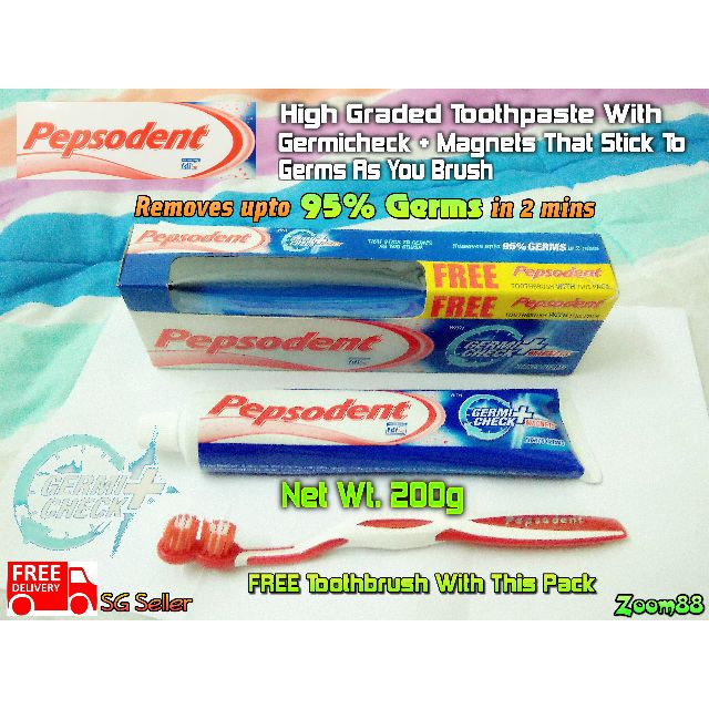 Pepsodent High Graded Toothpaste With Germicheck + Magnets