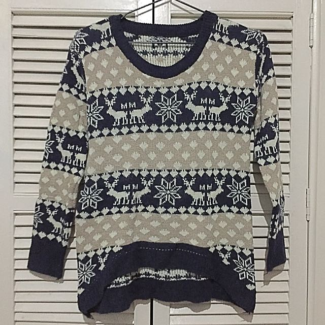 Reindeer Sweater/ Ugly Sweater / Knitted Sweater