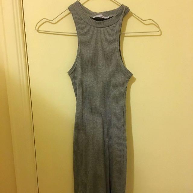 Ribbed high neck dress (Pure Basic)