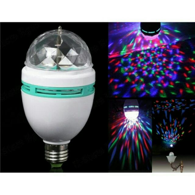 Rotating RGB Led DISCO Party Bulb