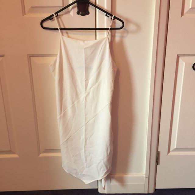 Sports girl White Dress