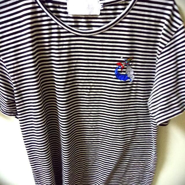 棉質休閒寬鬆刺繡火箭T恤