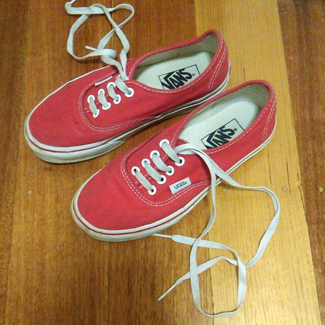 REDUCED Vans Authentic Red