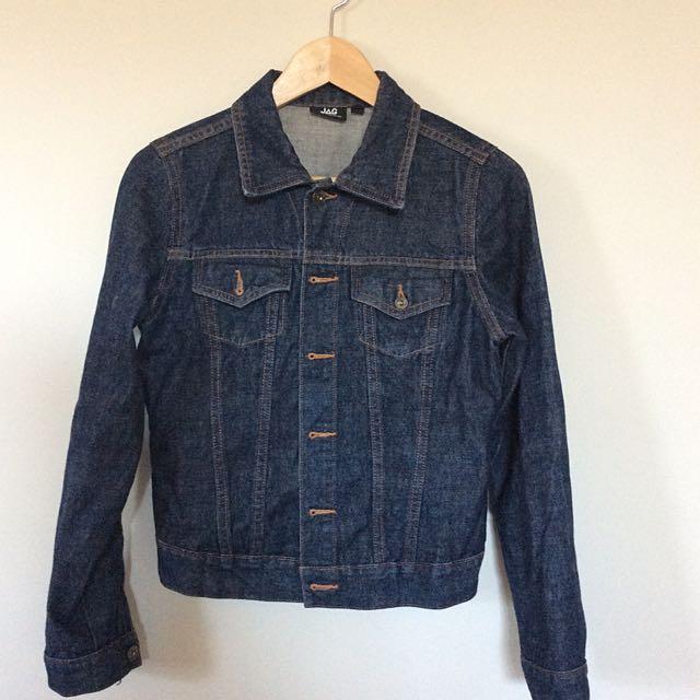 Jag Vintage Dark Blue Denim Jacket