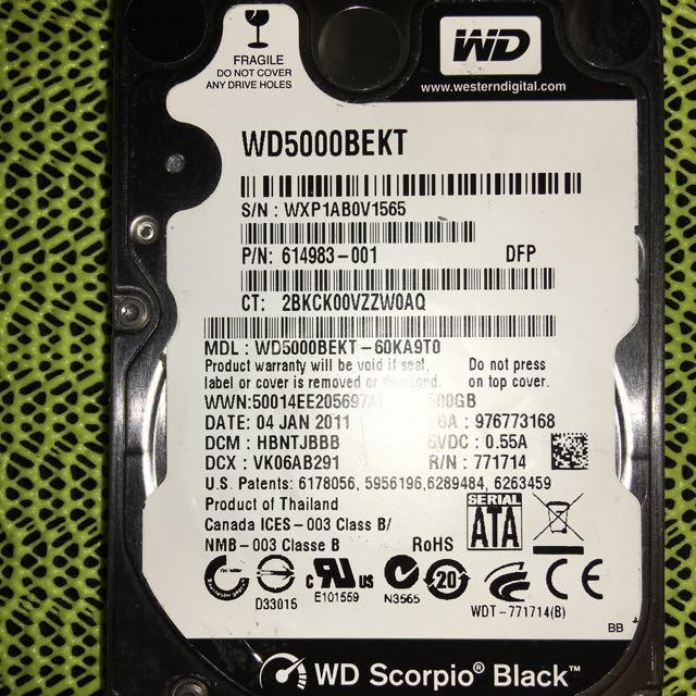 """WD 2.5"""" 500G NG"""