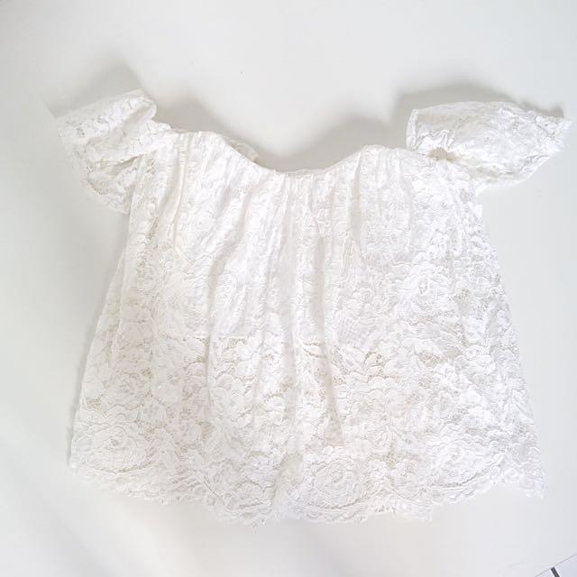 White Lace Sabrina