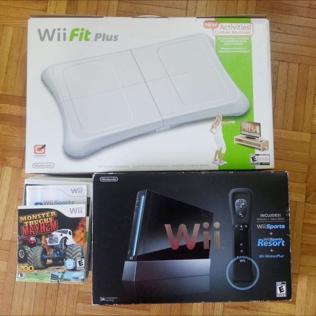Wii Motion Plus, Wii Fit Board, 10 Games
