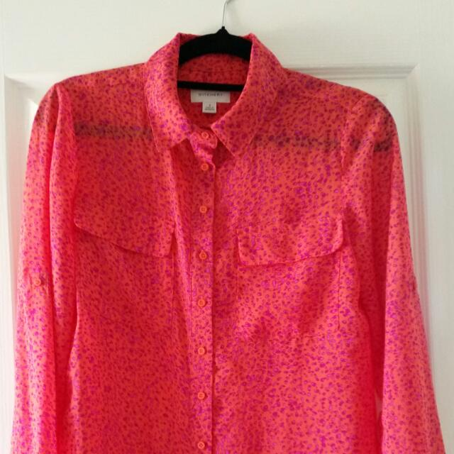 Witchery Silky Button Up Blouse Size 6 (8)