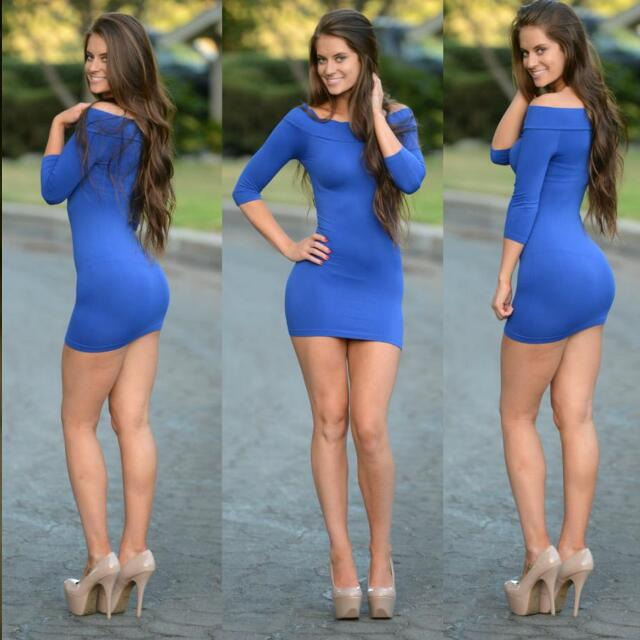Womens FASHIONOVA  Mini Dress (Blue Or White Available)