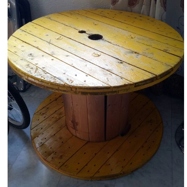 Reservedwooden Spool Cable Drum Table Industrial Vintage Furniture