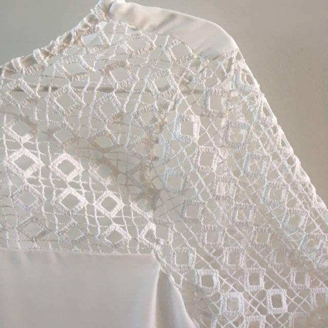 Zara Medium Chiffon Lace Top
