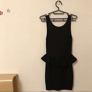 Zara黑色露背洋裝