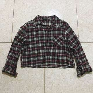 BN Checked Crop top (Long Sleeve)