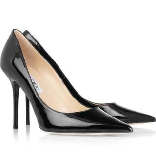 Jimmy Choo Patent Leather Classic Stilettos Abel Size 10