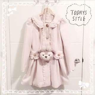 ୨୧⑅* Kawaii Cream Beige Winter Coat* ୨୧⑅*