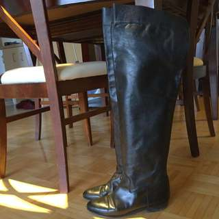 Italian Leather Over The Knee Boots