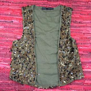 Zara, Embroidered and Sequinned Vest