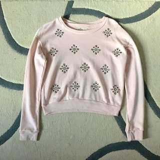 Hollister Embellished Crew Neck