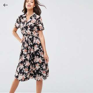 ASOS TALL Floral Midi Dress