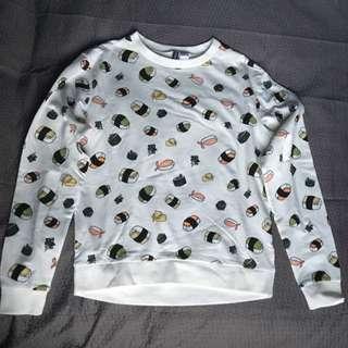 H&M Sushi Patterned Sweatshirt