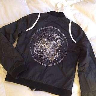 """Black Jacket """"Globe"""""""