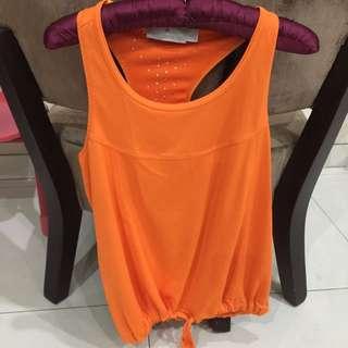 Adidas Stella mccartney Orange tank loose size S