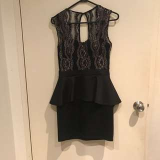 Peplum Dress, Size 10