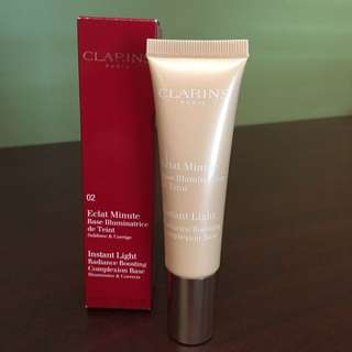Clarins Eclat Minute Instant Light Radiance Boosting Complexion Base No 2 Champagne