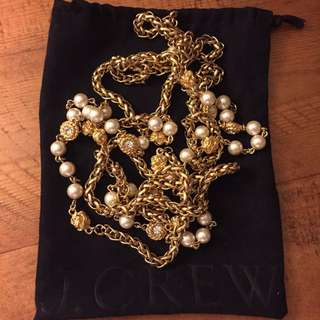 Jcrew Chanel Style Pearl Necklace