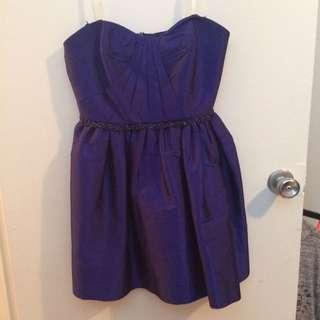 Strapless Prom/Formal/Gala Purple/Blue Short Dress