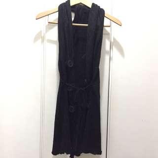 Black Sleeveless Bolero (long)