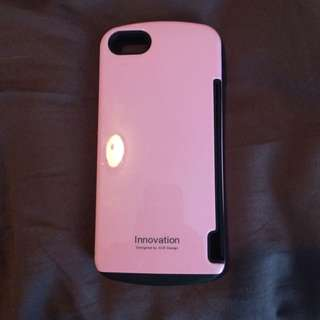 Iphone 5 And 5s Hybrid (hard and rubber) Pink And Black Case