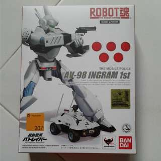 Free Delivery Bandai The Robot Spirits Patlabor AV-98 Ingram 1st Side Labor Moblie Police With Command Car Japan Version