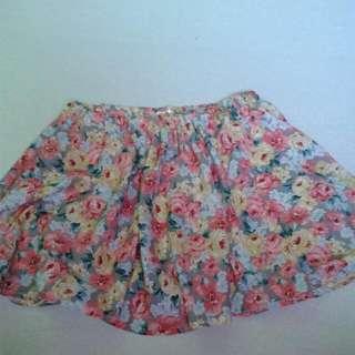 Cute Korean Floral Skirt