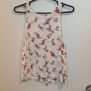 Dynamite - Red black and white floral tank top