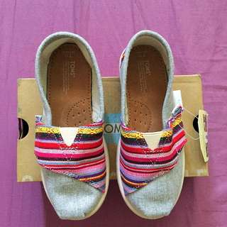 TOMS Classic Pink Woven Chambary