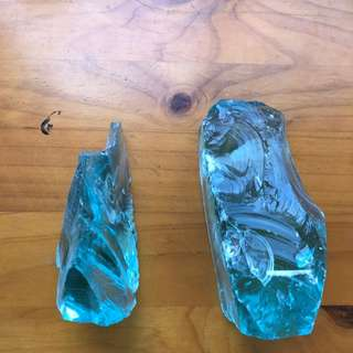 Blue Crystal Book Ends