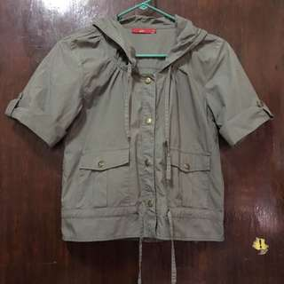 Army Green Hoodie Jacket