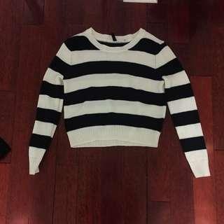 Striped Knit Sweater