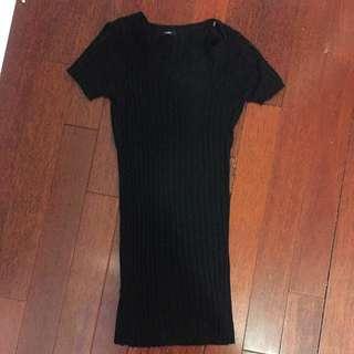 Black Tight Knit Dress