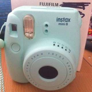 BABY BLUE INTAX POLAROID CAMERA